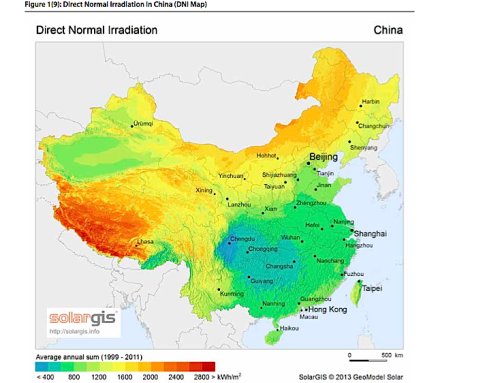 China billions of Concentrated Solar Power market is open for global CSP players