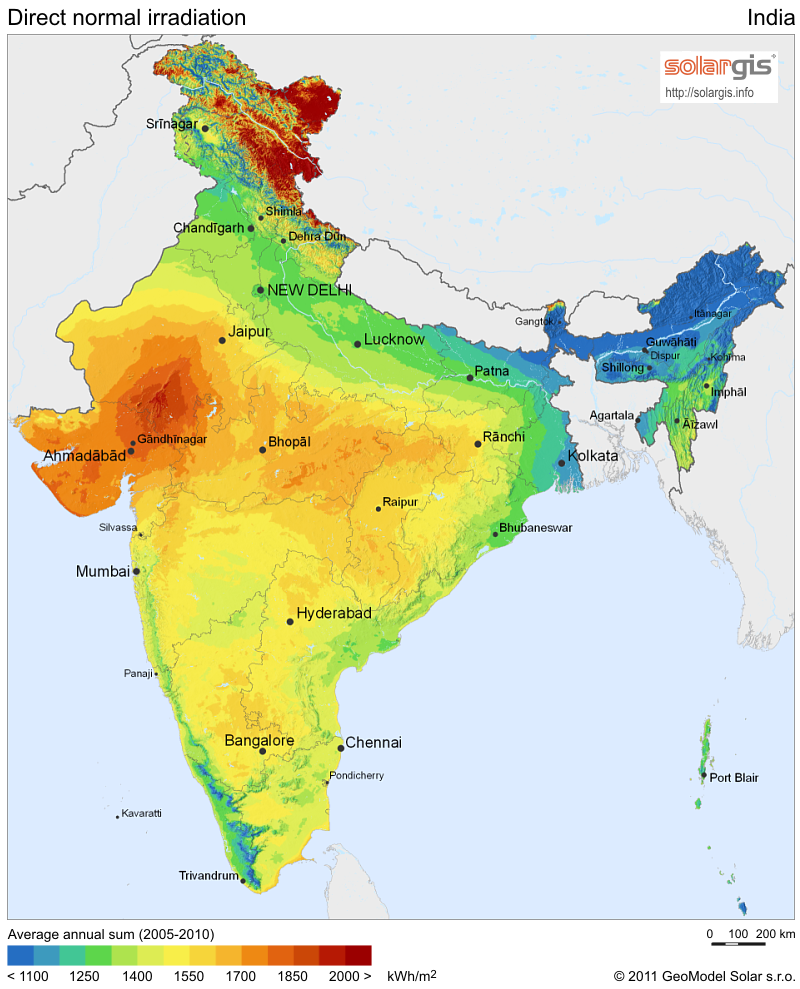 Financial support for concentrated solar power in India extended until 2020