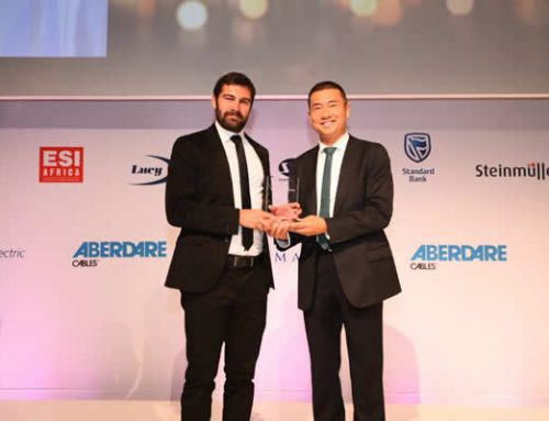 Abengoa's solar thermal plant Xina Solar One, awarded in the Industry Awards of the African Utility Week in South Africa