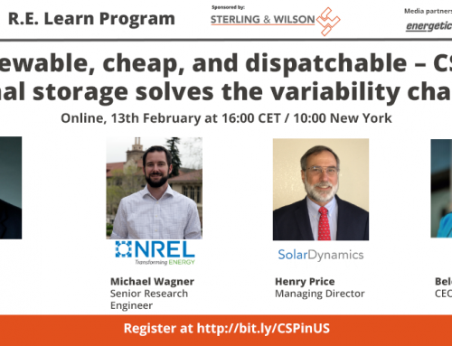 Webinar – How Concentrated Solar Power & thermal storage solves the variability challenge