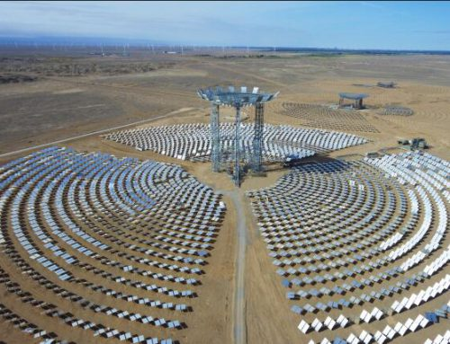 Three solar modules of world's first commercial beam-down tower Concentrated Solar Power project to be connected to grid