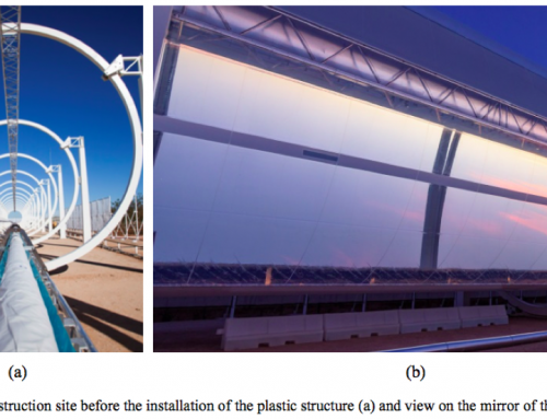 HELIOtube,  plastic tube solar collector for Concentrated Solar Power