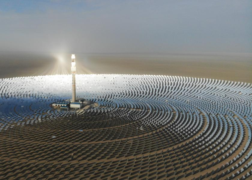 Super Mirror Concentrated Solar Power Plant in Gansu, NW China